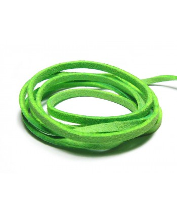 Suede Cord 3mm - Neon Green
