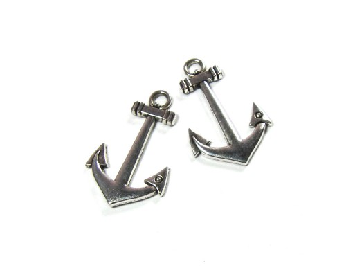 Anchor Charm Silver 35mm x 21mm