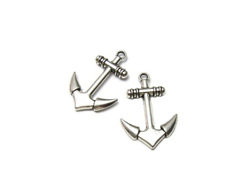 Anchor Charm Silver 20mm x 29mm