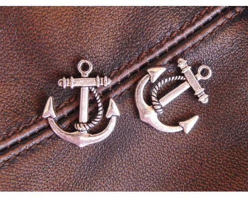 Anchor Charm Silver 20mm x 22mm