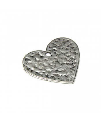 Heart Charm Silver 23mm x 28mm