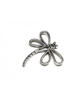Dragonfly Charm Silver 29mm x 31mm