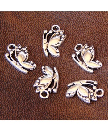 Butterfly Charm Silver 17mm x 11mm