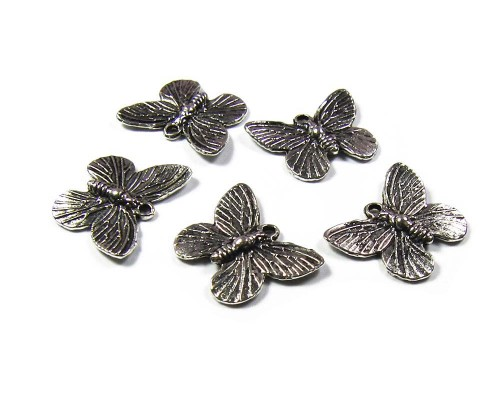 Butterfly Charm Silver 15mm x 18mm