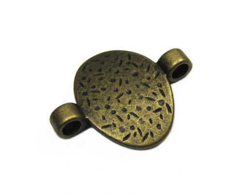 Antique Brass Connector 31mm x 39mm