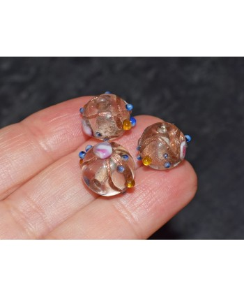Round Venetian Style Glass Bead 10mm - Cristal