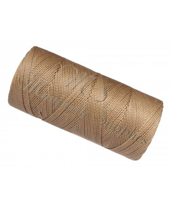 Waxed Cord Beige Grey - 15 Meters