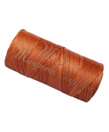 Waxed Polyester Cord - Copper