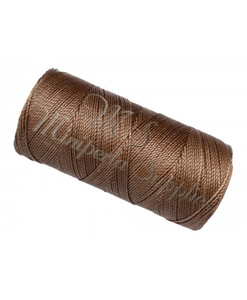 Waxed Polyester Cord - Dark Beige