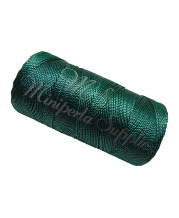 Waxed Polyester Cord - Dark Green Blue