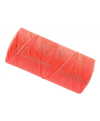 Waxed Cord Bright Coral - 15 Meters