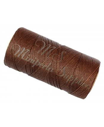 Waxed Polyester Cord - Chocolate Brown