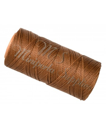 Waxed Polyester Cord - Coffee