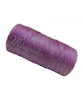 Waxed Cord Bright Lilac - 15 Meters