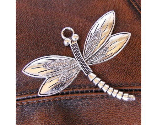 Dragonfly Pendant Silver 59mm x 66mm