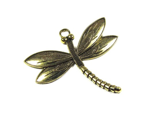 Dragonfly Pendant Gold 59mm x 66mm
