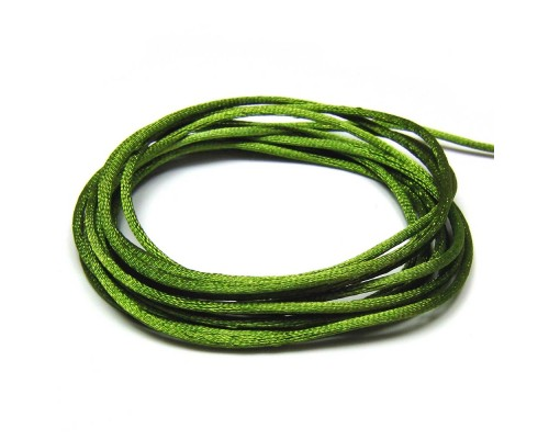 Rattail Cord 2mm - Lime Green