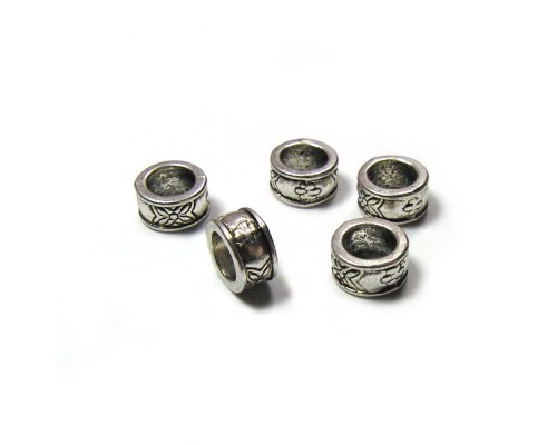 Barrel Spacer Silver 8mm x 4.5mm