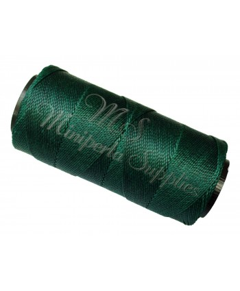 Waxed Polyester Cord - Dark Green