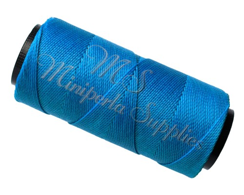 Waxed Cord Blue Turquoise - 15 Meters