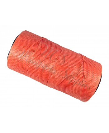 Waxed Polyester Cord - Coral